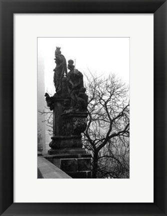 Framed Charles Bridge in Morning Fog IV Print