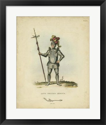 Framed Men in Armour III Print