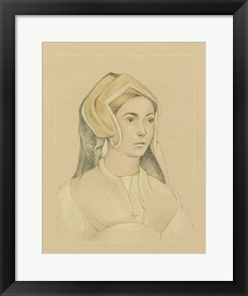 Framed 16th Century Portrait I Print