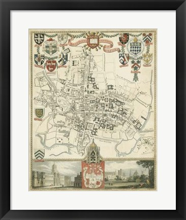 Framed City & University of Oxford Print