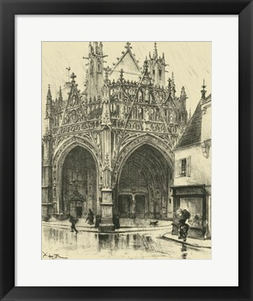 Framed Ornate Facade I Print