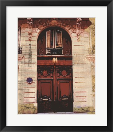 Framed Weathered Facade II Print