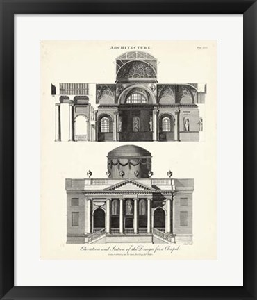 Framed Design for a Chapel Print