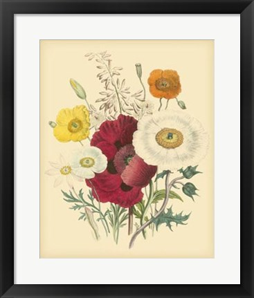 Framed Garden Bouquet II Print
