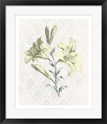 Framed Victorian Blooms III Print