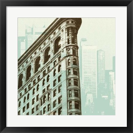 Framed Architectural Overlay II Print