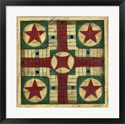 Framed Antique Parcheesi Print