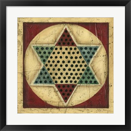 Framed Antique Chinese Checkers Print