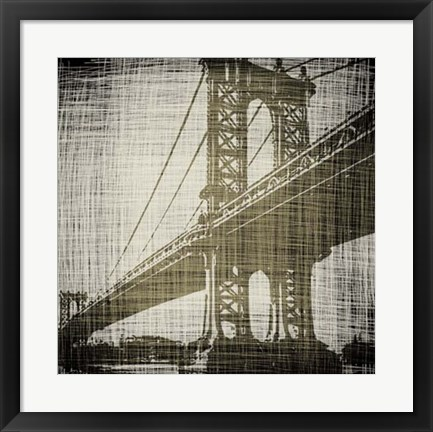 Framed Bridges of New York II Print