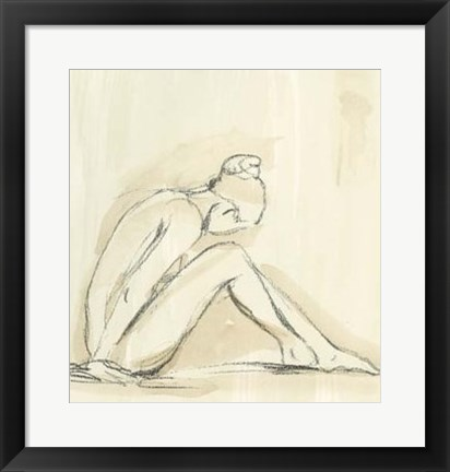 Framed Neutral Figure Study I Print
