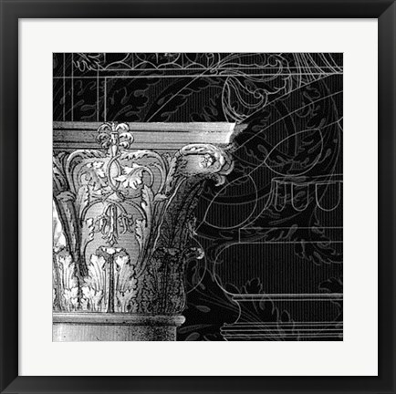 Framed Graphic Cornice IV Print