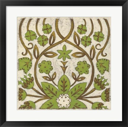Framed Lotus Tapestry I Print