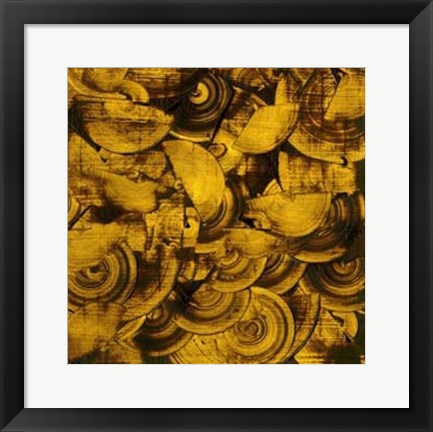 Framed Nautilus in Gold II Print