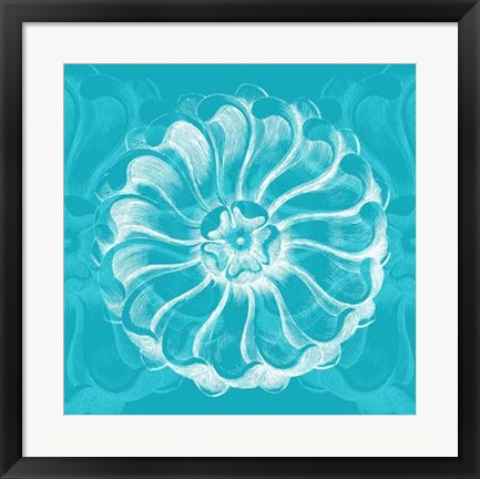 Framed Chromatic Rosette III Print