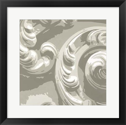 Framed Decorative Relief II Print