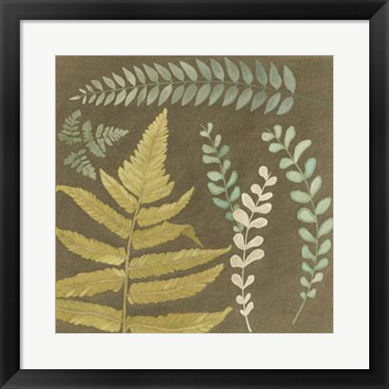 Framed Earth & Fern I Print