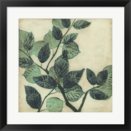Framed Graphic Leaves II Print