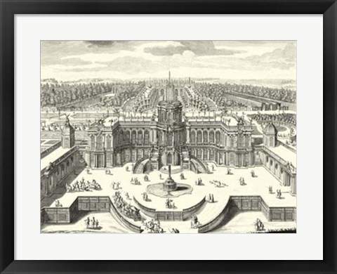 Framed Fountains of Versailles II Print