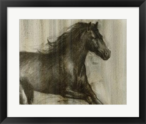 Framed Dynamic Stallion I Print