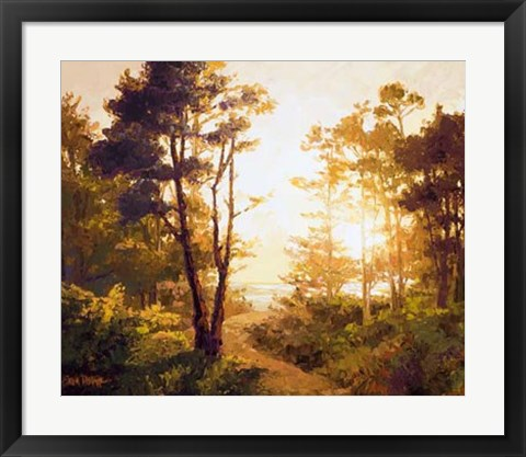 Framed Gilded Pathway Print