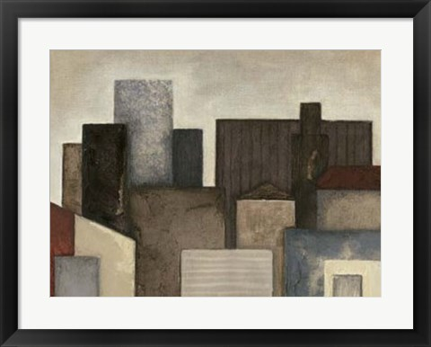 Framed Abstract Metropolis II Print