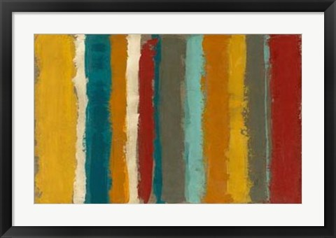 Framed Vibrant Striation I Print