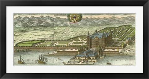 Framed Dahlberg Bird's Eye View I Print