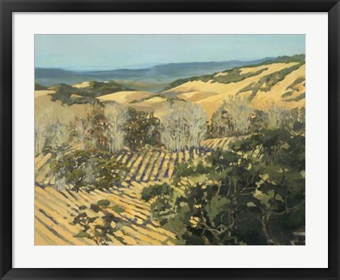 Framed Winter Vineyard Print