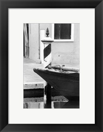 Framed Waterways of Venice I Print