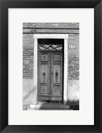 Framed Doors of Venice IV Print