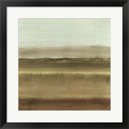 Framed Abstract Meadow I Print