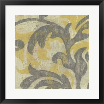 Framed Decorative Twill I Print