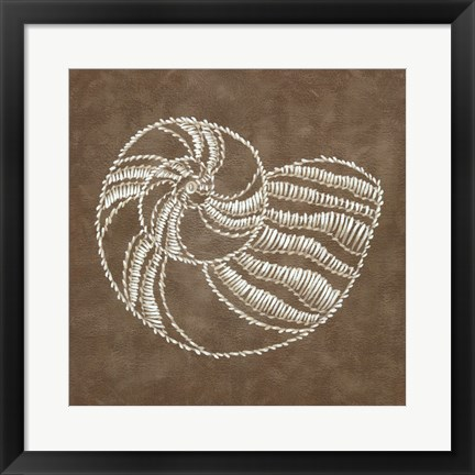 Framed Embroidered Shells II Print