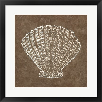 Framed Embroidered Shells III Print