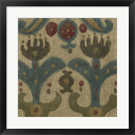 Framed Antique Ikat II Print