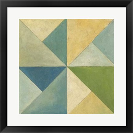 Framed Quilted Abstract I Print