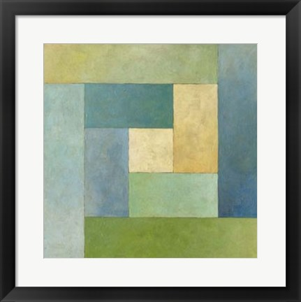 Framed Quilted Abstract II Print