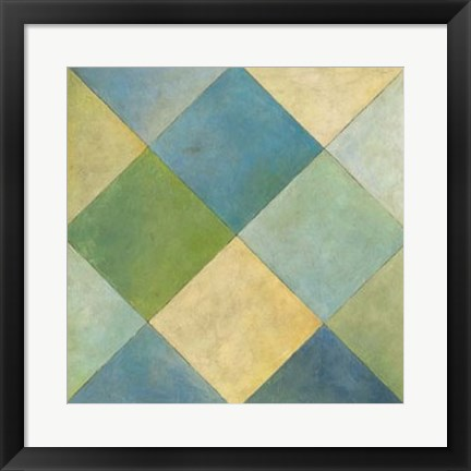 Framed Quilted Abstract III Print