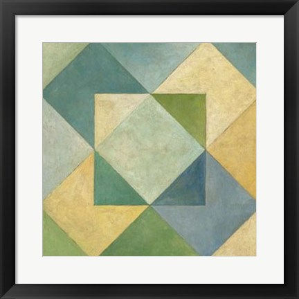 Framed Quilted Abstract IV Print