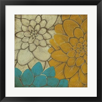 Framed Layered Dahlias I Print