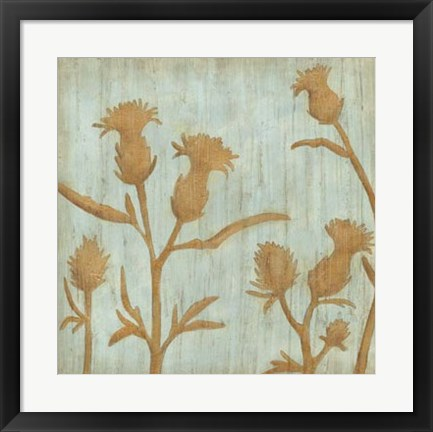 Framed Golden Wildflowers III Print
