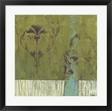 Framed Distressed Abstraction I Print