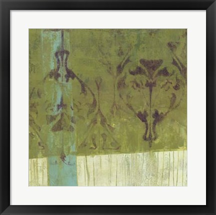 Framed Distressed Abstraction II Print