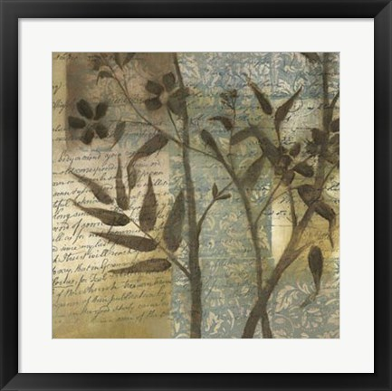 Framed Wildflower Tapestry I Print