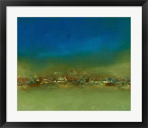 Framed City Afar II Print