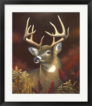 Framed Deer Portrait Print