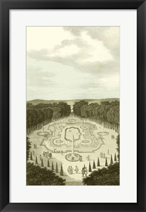 Framed Garden at Versailles I Print