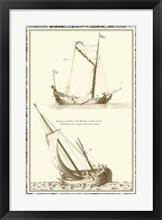 Framed Ship Schematics II Print