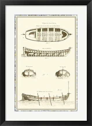 Framed Ship Schematics IV Print