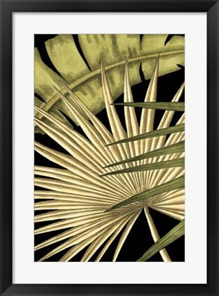 Framed Rustic Tropical Leaves I Print